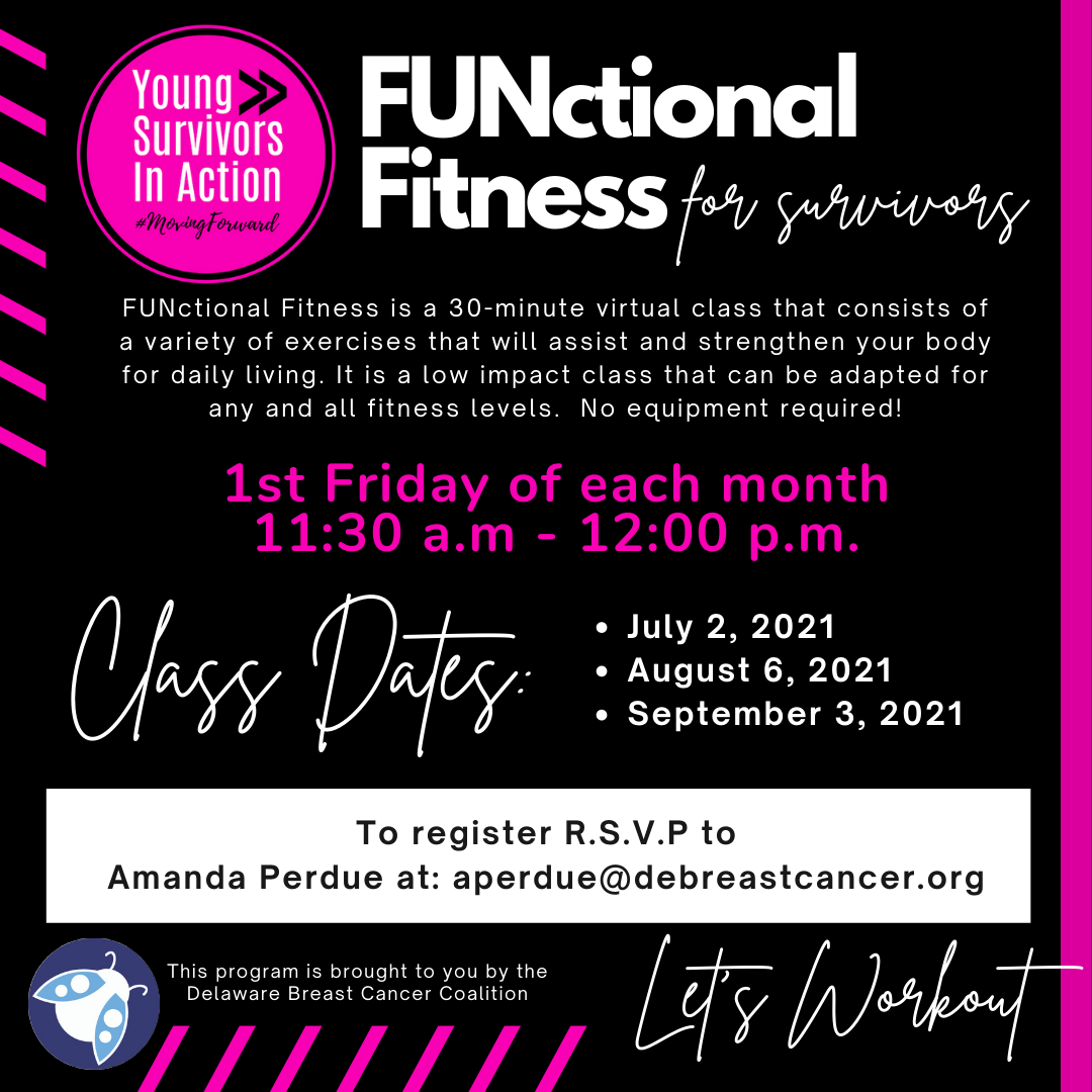 YSIA FUNctional Fitness for Survivors, 1st Friday, July 2 through September 3, 2021